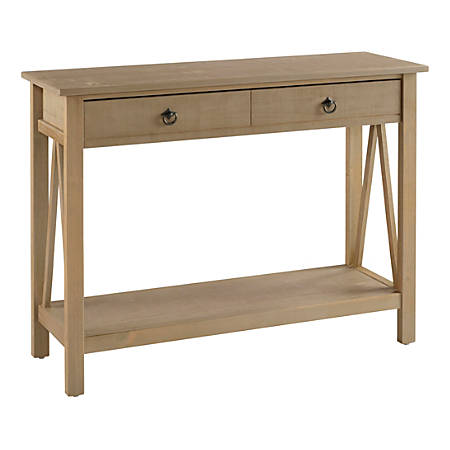 Magnificent Linon Rockport Rustic Console Table Rectangle Driftwood Item 8958893 Ibusinesslaw Wood Chair Design Ideas Ibusinesslaworg