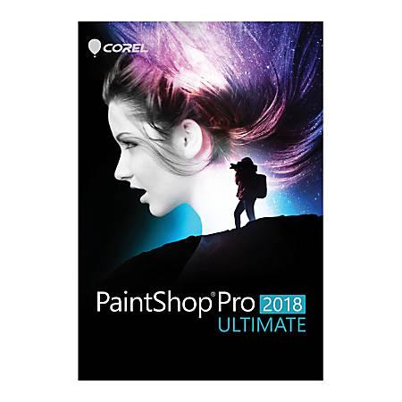 Corel® Paintshop® Pro 2018 Ultimate, Traditional Disc