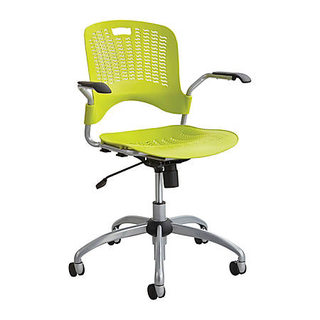 Safco® Sassy® Mid-Back Chair, Grass Green/Silver