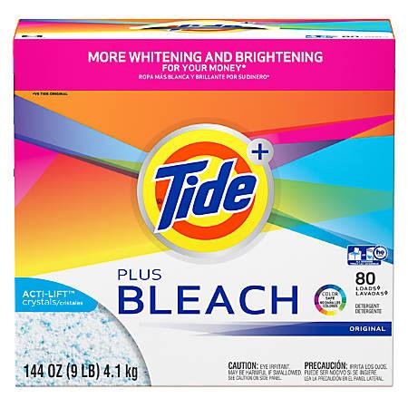 Laundry Detergent with Bleach, Tide Original Scent, Powder, 144 oz Box