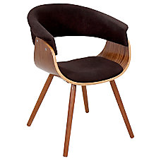 Lumisource Vintage Mod Chair EspressoWalnut