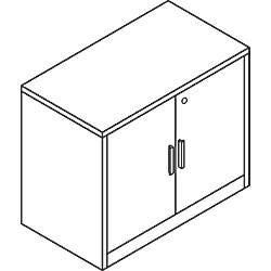 HON 10500 Series Storage Cabinet Mahogany