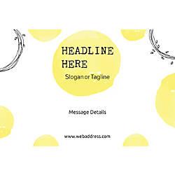 Customizable Window Decal Horizontal Abstract Yellow