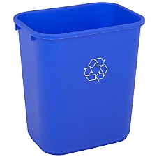 Highmark Recycling Bin 7 Gallons Blue