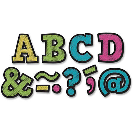 "Teacher Created Resources 2"" Bold Block Magnet Letters - Learning Theme/Subject - 87 (Letter) Shape - Magnetic - Durable, Damage Resistant - 0.10"" Height x 2"" Width x 2"" Depth - Multicolor - 87 / Pack"