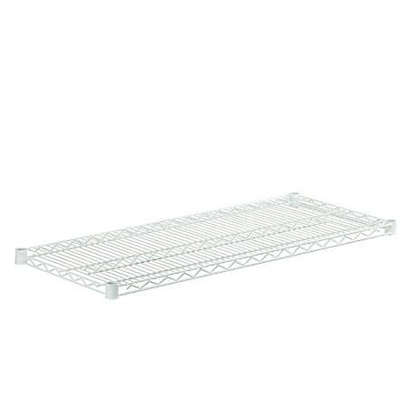 "Honey-Can-Do Plated Steel Shelf, 18"" x 42"", White"