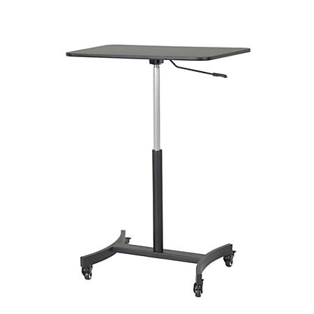 Victor High Rise™ Mobile Adjustable Steel Standing Desk, Black