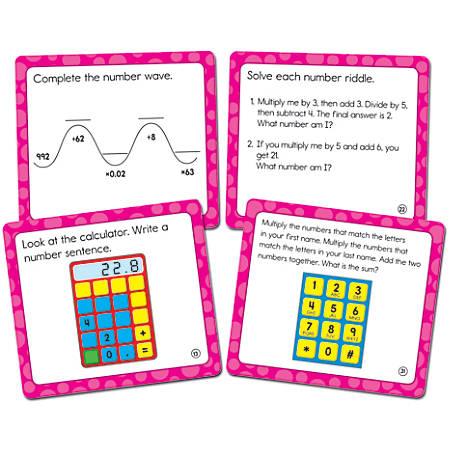 """Carson-Dellosa Math Challenge Curriculum Cut-Outs, 5"""" x 5 1/2"""", Multicolor, Grade 5"""