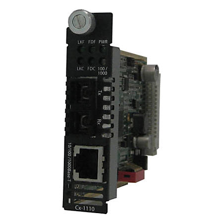 Perle CM-1110-S2SC120 Gigabit Ethernet Media Converter - 1 x Network (RJ-45) - 1 x SC Ports - 10/100/1000Base-T, 1000Base-ZX - Internal