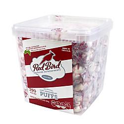 Red Bird Soft Peppermint Puff Tub