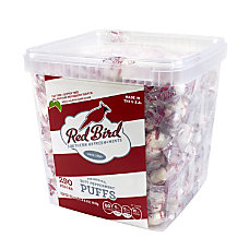 Red Bird Soft Peppermint Puff Tub