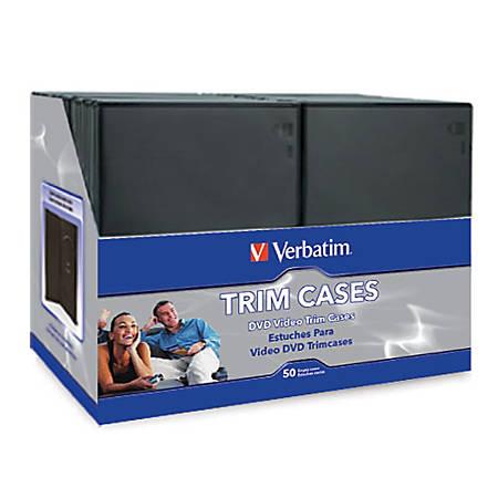 Verbatim CD/DVD Video Trimcases, Black, Case Of 100