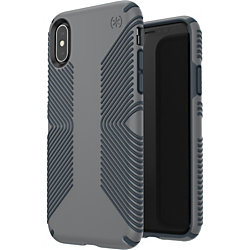 Speck Presidio Grip Case - For Apple iPhone X, iPhone Xs - Graphite Gray, Charcoal Gray - Impact Absorbing, Shock Resistant, Drop Resistant, Scratch Resistant, Shatter Resistant, Anti-slip, Temperature Resistant, Chemical Resistant, Crack Resistant