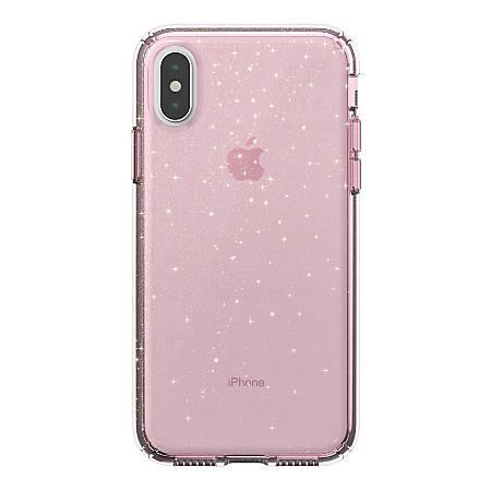 Speck Presidio iPhone® XS/X Case, Bella Pink/Gold Glitter