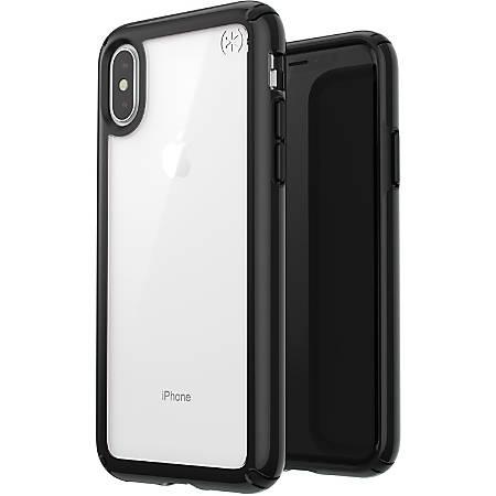 Speck Presidio Show Case - For Apple iPhone Xs, iPhone X - Clear, Black - Drop Resistant, Impact Absorbing, Scratch Resistant, Shatter Resistant, Wear Resistant, Tear Resistant, Temperature Resistant, Chemical Resistant, Crack Resistant