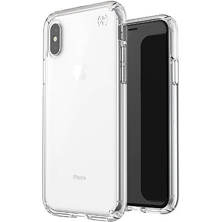 """Speck Presidio Stay Clear iPhone X Case - For Apple iPhone X - Clear - Drop Resistant, UV Resistant, Oil Resistant, Shock Absorbing, Shock Resistant, Impact Resistant, Shatter Resistant, Scratch Resistant - Impactium, Polycarbonate - 96"""" Drop Height"""