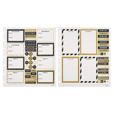 TUL™ Custom Note-Taking System Discbound Organization Stickers, Assorted, Pack Of 4 Sheets