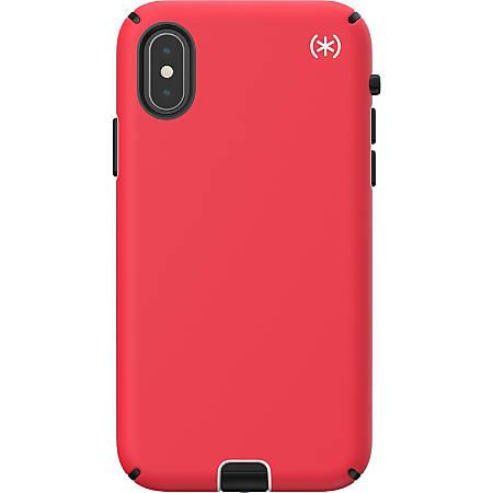 Speck Presidio SPORT Case - For Apple iPhone Xs, iPhone X - Heartrate Red, Sidewalk Gray, Black - Impact Absorbing, Shock Resistant, Scratch Resistant, Shatter Resistant, Bacterial Resistant, Anti-slip, Drop Resistant, Temperature Resistant
