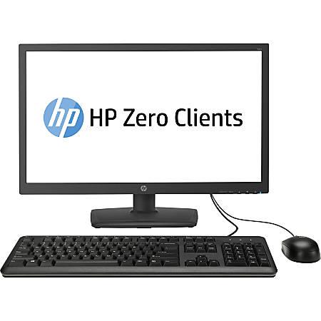 HP t310 All-in-One Zero Client - Teradici Tera2321 - 512 MB RAM DDR3 SDRAM  - 32 MB Flash - Gigabit Ethernet - 23 6