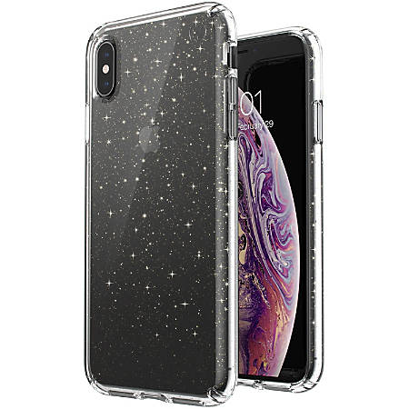 huge discount 92103 8c6e9 Speck Presidio Clear + Glitter iPhone Xs Max Case - For Apple iPhone Xs Max  - Embedded, Glitter Crystals - Clear, Gold Glitter - Scratch Resistant, ...