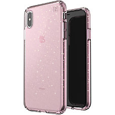Speck Presidio Clear Glitter iPhone Xs