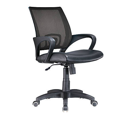 Lumisource Officer Mid-Back Chair, Black