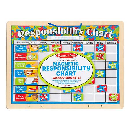 "Melissa & Doug Responsibility Magnetic Chart Board, 16"" x 25"", Multicolor"