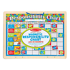 Melissa Doug Responsibility Magnetic Chart Board
