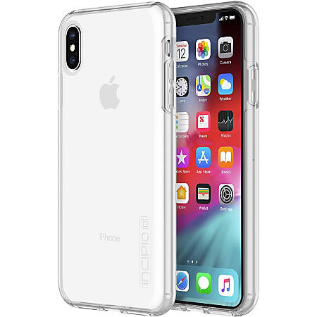 Incipio DualPro The Original Dual Layer Protective Case iPhone Xs Max - For Apple iPhone Xs Max - Clear - Bump Resistant, Drop Resistant, Scratch Resistant, Shock Absorbing - Polycarbonate - 10 ft Drop Height