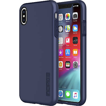 Incipio DualPro The Original Dual Layer Protective Case iPhone Xs Max - For Apple iPhone XS Max Smartphone - Midnight Blue - Bump Resistant, Drop Resistant, Scratch Resistant, Shock Absorbing - Polycarbonate - 10 ft Drop Height
