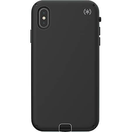Speck Presidio SPORT iPhone XS Max Case - For Apple iPhone Xs Max - Black, Gunmetal, Black - Impact Absorbing, Shock Resistant, Scratch Resistant, Shatter Resistant, Anti-slip, Bacterial Resistant, Drop Resistant, Temperature Resistant