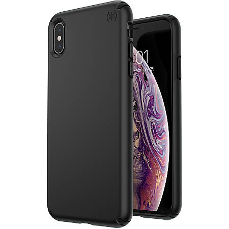 Speck Presidio Mount iPhone Xs Max Case - For Apple iPhone XS Max Smartphone - Black - Matte - Shock Resistant, Scratch Resistant - Impactium, Steel - 10 ft Drop Height