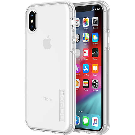 Incipio DualPro The Original Dual Layer Protective Case - For Apple iPhone Xs, iPhone X - Clear - Drop Resistant, Scratch Resistant, Shock Absorbing, Bump Resistant, Impact Absorbing - Polycarbonate, Silicone, Plextonium - 10 ft Drop Height