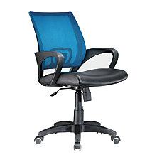 Lumisource Officer Mid Back Chair BlackBlueBlack