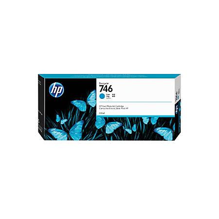 HP 746 300-mL Cyan Ink Cartridge (P2V80A)