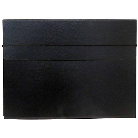 """JAM Paper® Strong Kraft Portfolio With Elastic Closure, 9 1/4"""" x 12 1/2"""", Black"""