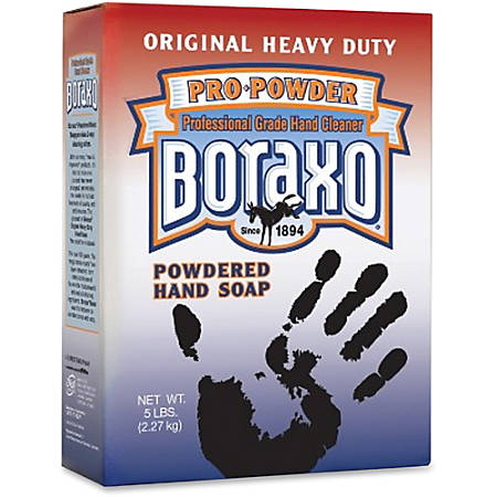 Dial Boraxo Powdered Hand Soap - 5 lb - Grease Remover, Dirt Remover - Hand - White - Water Soluble, Anti-septic - 10 / Carton