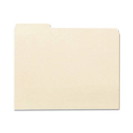 Earthwise® By Oxford® File Folders, Letter Size, 1/3 Cut, 100% Recycled, Manila, Box Of 100