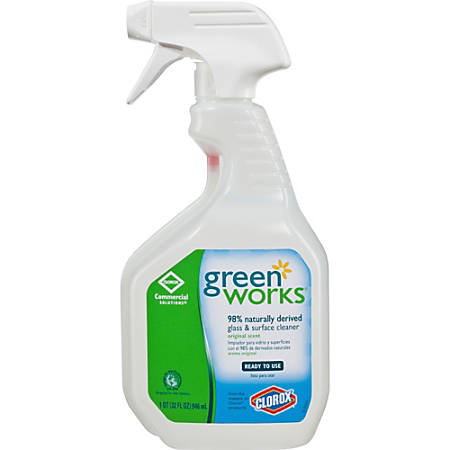Green Works Green Works Glass & Surface Cleaner - Spray - 0.25 gal (32 fl oz) - 432 / Pallet - Clear