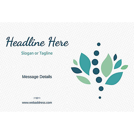 Adhesive Sign, Stones and Leaves, Horizontal