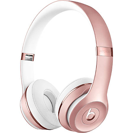 Beats by Dr. Dre Solo3 Wireless Headphones - Rose Gold - Stereo - Wireless - Bluetooth - Over-the-head - Binaural - Circumaural - Rose Gold