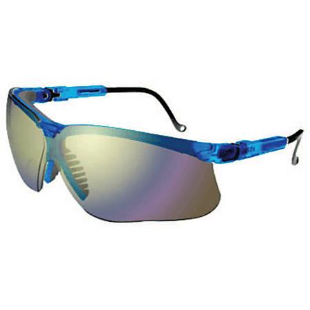 Genesis Eyewear, Mirror Lens, Polycarbonate, Ultra-dura, Blue Vapor Frame