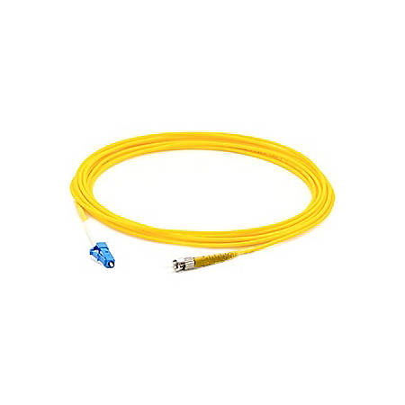 AddOn 5m FC (Male) to LC (Male) Yellow OS1 Simplex Fiber OFNR (Riser-Rated) Patch Cable