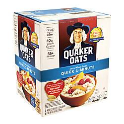 Quaker Oats Quick 1 Minute 100percent