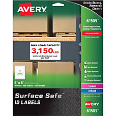 Avery reg Surface Safe ID Labels
