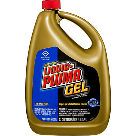 Liquid-Plumr Heavy-Duty Gel Clog Remover - Ready-To-Use Gel - 0.63 gal (80 fl oz) - 162 / Pallet - Clear