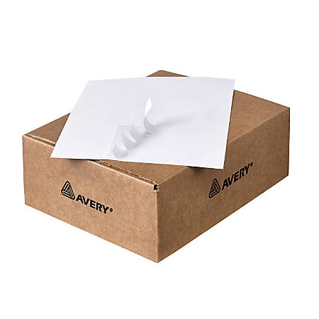 """Avery® Mailing Labels for Copiers - Permanent Adhesive - 1 1/2"""" Width x 2 13/16"""" Length - Rectangle - White - 33 / Sheet - 16500 / Box"""