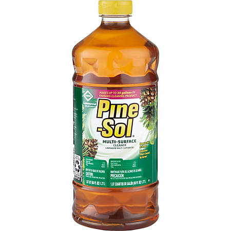 Pine-Sol Multi-surface Cleaner - Concentrate Liquid - 0.47 gal (60 fl oz) - Pine Scent - 384 / Bundle - Amber