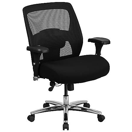 Superb Flash Furniture Hercules Series 24 7 Intensive Use Big Tall Mesh Office Chair With Ratchet Back Black Gray Item 8983334 Pdpeps Interior Chair Design Pdpepsorg