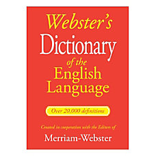 Websters Dictionary Of The English Language